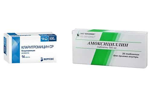 Медикаменты Амоксициллин и Кларитромицин эффективны при инфекционных и вирусных заболеваниях, развитие которых спровоцировано чувствительными к их действию патогенами