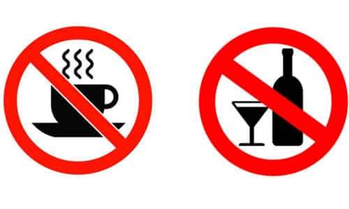 Исключите из меню алкоголь. Вредны больному крепко заваренные чаи, кофе, какао, шоколад