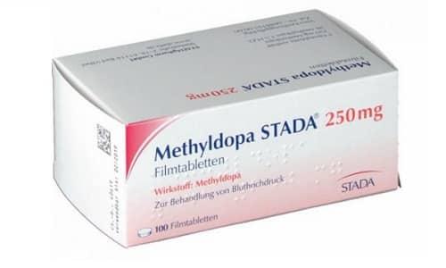 Действие спазмолитика снимает препарат Метилдопа
