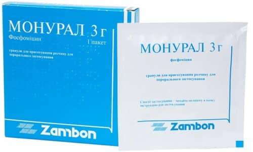 Наиболее часто при лечении цистита у детей используют Монурал, в состав которого входит мумие и 15 целебных растений
