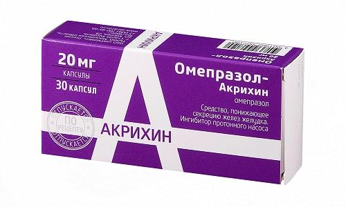 Омепразол помогает от язвы желудка, назначается в комплексной терапии инфицированным Хеликобактер пилори