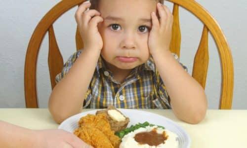 Отсутствие аппетита является одним из симптомов панкреатита у детей