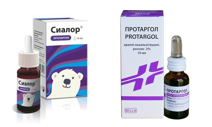Протаргол и Сиалора используются в лечении воспалительных заболеваний