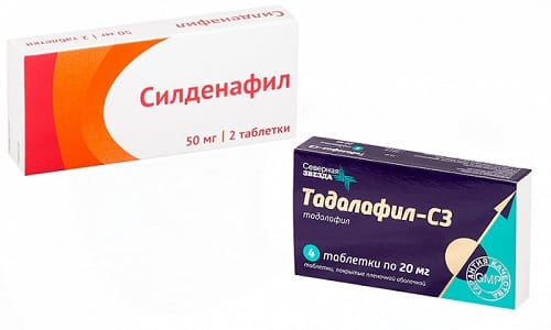 Для лечения простатита специалисты назначают препараты Силденафил или Тадалафил