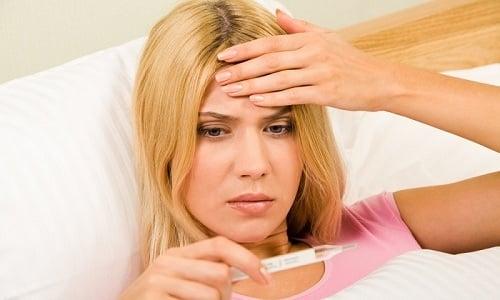 Раствор прополиса, используемый при цистите, может дать побочные эффекты, среди которых повышение температуры тела