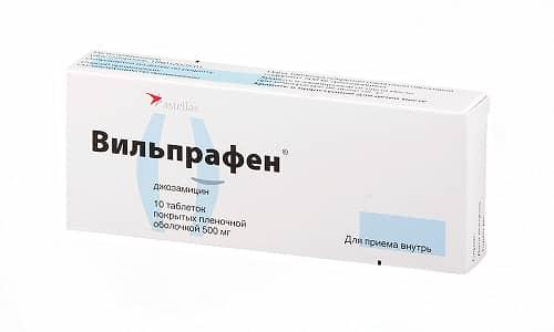 Вильпрафен используют при заболеваниях органов мочевой и половой систем, в т. ч. для лечения простатита