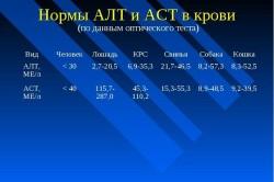Нормы АЛТ и АСТ в крови