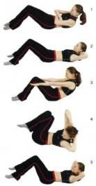 упражнения лежа на спине