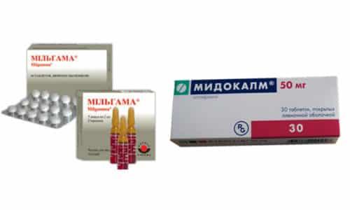 При остеохондрозе можно лечиться препаратами Мильгамма и Мидокалм