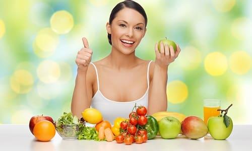Для профилактики герпесной ангины необходимо употреблять больше овощей и фруктов