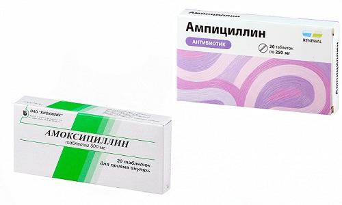 Для борьбы с различными видами микроорганизмов врачи нередко назначают антибиотики Ампициллин и Амоксициллин