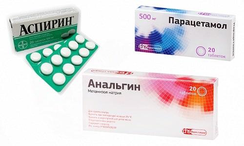 Для стабилизации температуры тела принимают Парацетамол, Анальгин и Аспирин