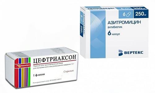 Азитромицин и Цефтриаксон - средства, уничтожающие и подавляющие размножение болезнетворных бактерий
