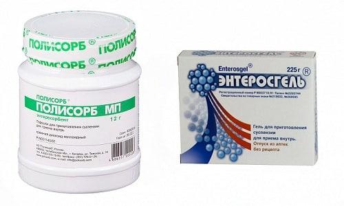Для лечения аллергических и токсических состояний применяются лекарственные средства из группы энтеросорбентов Полисорб и Энтеросгель