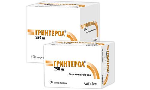 Гринтерола способствует образованию и выделению желчи, снижению ее литогенности и насыщения холестерином