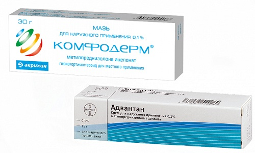 Атопический дерматит или экзему можно лечить с помощью Адвантана и Комфодермы