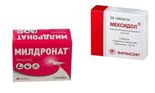 Мексидол или Милдронат применяются в лечении заболеваний, которые характеризуются нарушением мозгового кровообращения