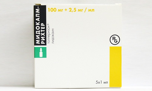 Чтобы устранить спазмы врачи разрешают использовать миорелаксант Мидокалм