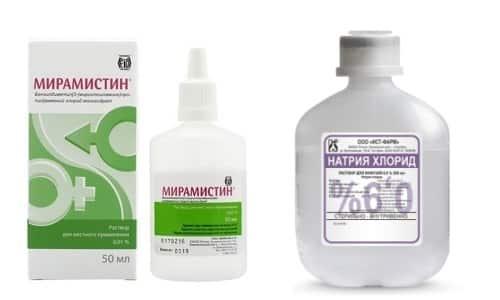 Мирамистин и физраствор применяют для лечения и профилактики разных патологических состояний