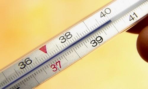 При тяжелой форме герпеса температура тела повышается до 40°C