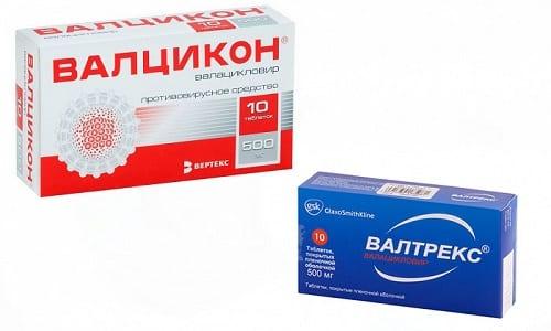 Чтобы побороть вирус герпеса, врачами назначаются противовирусные препараты - Валцикон или Валтрекс